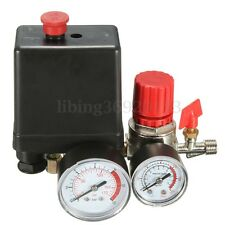 Air Compressor 174PSI Pressure Switch Control Valve w/ Manifold Regulator Gauges