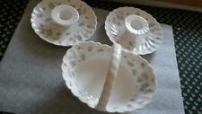 Wedgewood April flowers porcelain sweet dish and candle holders pre-owned