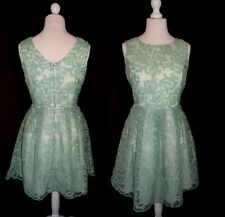 BUTTERFLY ❤️ MATTHEW WILLIAMSON ❤️ UK 14 LIGHT GREEN LACE PARTY OCCASION DRESS
