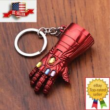 Marvel Avengers Endgame Iron Man Red Infinity Gauntlet Metal Keychain Key chain