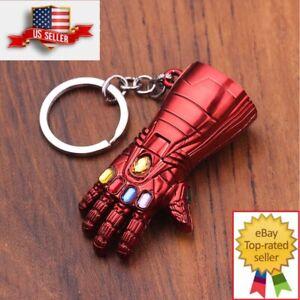 Marvel Avengers Endgame Iron Man Red Infinity Gauntlet Metal Keychain Key chain