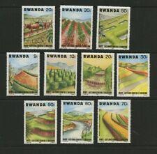 Soil Erosion Prevention set of 10 mnh stamps 1982 Rwanda #1140-9 Terrace River