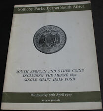 Catalogue Of South African & Other Coins 1977 Sotheby Scarce Reference
