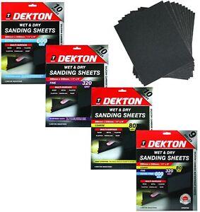 Dekton Wet And Dry Sanding Sheet Sandpaper 80 320 600 Grit Or Assorted Pack