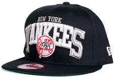 New York Yankees Solid Navy Blue   White NY 9Fifty New Era Snapback  Baseball Hat 6b7edc307