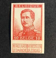 Belgium 95 Scarce Imperf Og Vf Mnh Unlisted In Scott