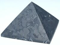 "Non-Polished Russian Shungite Pyramid / 2.13"" (54 mm) / 3.2 oz (90 gr) / 1031"