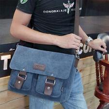 Men's Messenger Bag Canvas Satchel Cross Body 14