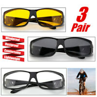 3x Motorcycle Riding Glasses Goggles Wind Dustproof Outdoor Protection US Stock