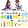 26 Pcs Dough Tools Set Kit Clay Play Doh Molds Cutting Crafts Kids Xmas Gifts US