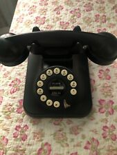 Black Grand Telephone Flash Redial Push Button Vintage Style Retro Phone 1950