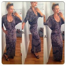 Urban Outfitters Anthropologie Paisley Draped Back Maxi Dress