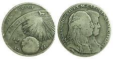 pci0284) Napoli regno Ferdinando IV grana 120 piastra 1791 SOLI REDUCI