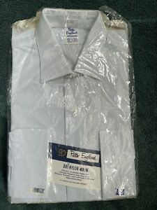 New with tags Peter England vintage mens nylon formal shirts 15.5
