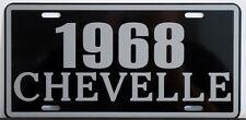 1968 68 CHEVELLE METAL LICENSE PLATE SS SUPER SPORT 327 350 396 427 CONVERTIBLE