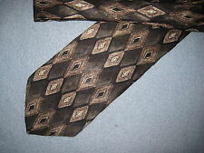 Mens Beige Silk Tie Necktie Haggar ~ FREE US SHIP (5197)