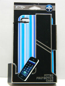 Apple iPhone 4 Fitted Protective Case, Blue, NEW Free Ship