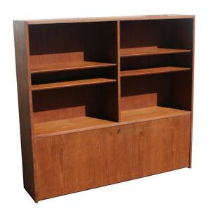 "54"" Danish SOBERG MOBLER Teak Bookcase Desk (MR10301)"