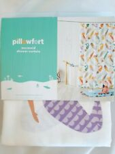 "New in pkg Pillowfort Mermaid Shower Curtain bathroom 72""×72"""