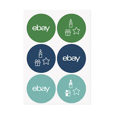 """NEW PRODUCT 3"""" Holiday Stickers  - Teal, Blue, and Green"""