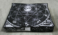 "New 35"" Black & White The Star Indian Floor Pillow Cushion Cover Dog Bed Covers"