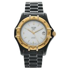 Vintage Heuer 2000 Series Black PVD Plated 38mm White Dial Quartz Wrist Watch