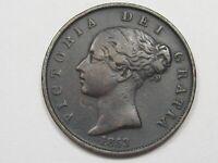 1853 Great Britain Half Penny. Queen Victoria.  #6