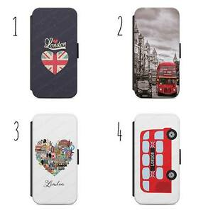 London City Great Britain Flip Wallet Phone Case Cover All iPhone & Samsung