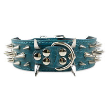 Spiked Studded Rivet Pet Dog Collar PU Leather For Pit Bull Mastiff Rottweiler