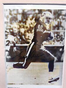 "JERRY RICE Autographed B&W 5x7"" Photo, NFL San Francisco 49ers"