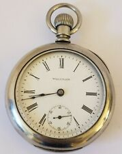 Antique Model 1883 WALTHAM Victorian Gents 18s Silver Pocket Watch