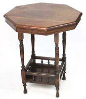 Antique Edwardian Octagonal mahogany Occasional Table - Free Shipping [PL2548]
