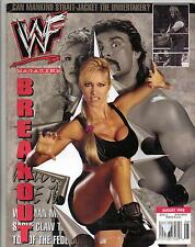 WRESTLING ~WWF MAGAZINE AUG 98~  SABLE COVER & STORY~PLUS A LIMITED SABLE CARD `