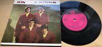 """KWYET KINKS 1965 UK PYE VINYL 7 """" 45 EP NEP 24221 EX / EX"""