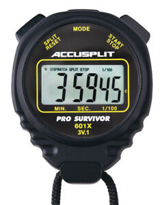 Accusplit A601X Pro Survivor Stopwatch, Black