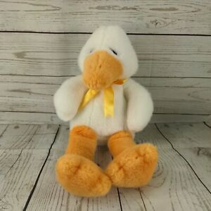 The Manhattan Toy Company tall duck approx 12 inches white fluffy VGC