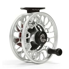 Nautilus NV G-5/6 Fly Reel, Silver, LH Retrieve, New, FREE SHIPPING