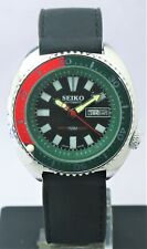 Beautiful Seiko Diver's Black Dial 6309 17 Jewels Automatic Movement D/D Watch
