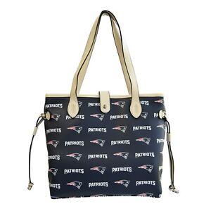New England Patriots Patterned Tote Bag Handbag