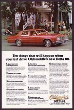 1976 Original Vintage Oldsmobile Delta 88 Royale Town Sedan Car Photo Print Ad