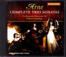 Arne Trio Sonatas Standage Collegium Musicum 90 Simon Standage chanandos CD 1990