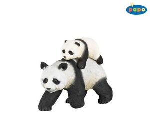 Papo 50071 Panda With Youngster 3 1/8in Wild Animals