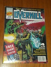 OVERKILL #1 MARVEL BRITISH MAGAZINE 24 APRIL 1992 WARHEADS WITH POSTER^
