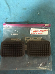 GM / Chevrolet P30 Work Horse Truck Brake & Clutch Pedal Pad Covers 3-3/8x2-5/16
