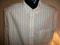 Men's Chaps Wrinkle Free Oxford Long Sleeve Button Down Shirt Size XL