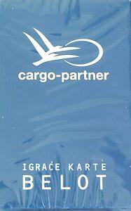 BELOT playing cards, Cargo-Partner branded, brand new