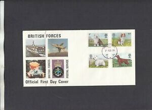 1979 Dogs British Forces Postal Service FDC Forces Post Office 10 CDS