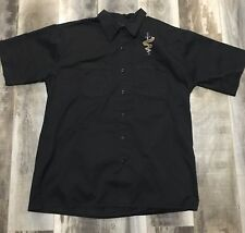 Orange County Choppers Men's Black Work Shirt Short Sleeve Size XL