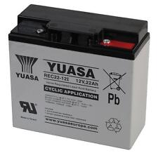 Lawnmower GEL Battery YUASA 12V 22Ah - (Replaces F19-12B )