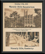 Waverly Hills Sanatorium Poster Reprint On 90 Year Old Paper Ghost Hunters *266